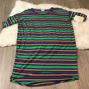 NWT Lularoe Irma Horizontal Striped Tunic XXS
